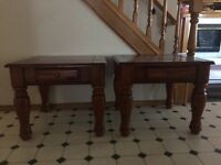 FREE COFFEE TABLE AND MATCHING SIDE TABLES