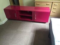 Free Pink Wardrobe/ TV Shelf Unit