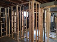 We do basement framing