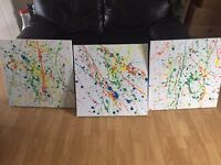 3 large canvases
