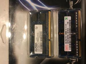 Mémoire pour portable 2 X 4Gb - 60$
