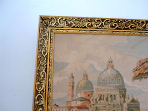 VIntage Golden Framed Large Tapestry decorative wall hanging London Ontario image 5