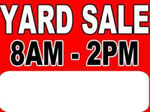 Last Giant Yard sale of the Year!