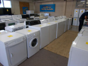 Large selection of washers and dryers with 90 day warranty.