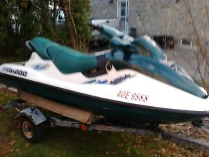 Pair (2) 1997 Seadoo gtx with trailer