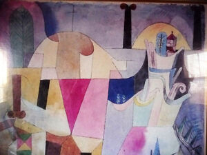 """Lithograph by Paul Klee """"Black Columns In A Landscape"""" 1919 Stratford Kitchener Area image 2"""