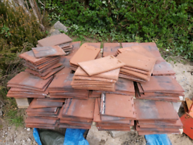 X100 Reclaimed newport clay shingle roof tiles