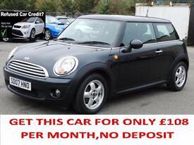 Mini 1.6 Petrol Cooper, Black, 2007, 3 Door Hatchback, 6 Months AA Warranty