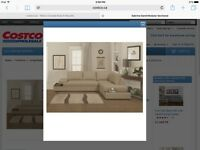 Light Grey Sectional with built in end tables