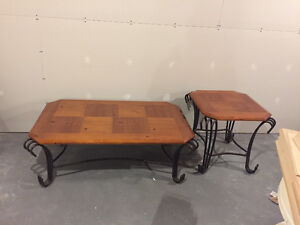 Coffee table and one side table