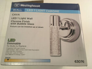 Westinghouse CAVA LED Wall Light Chrome with Bubble Glass