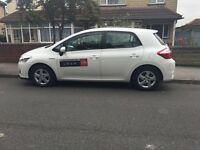 2011 61 TOYOTA AURIS HYBRID T4 1.8 leeds taxi plated private hire for just 6 months