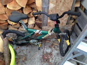 Kids starter bike w/training wheels