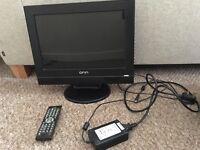 ONN 12 inch tv/dvd combo
