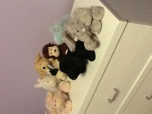 19 stuffed animals