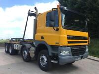 2012 DAF CF 85.360 Euro 5 8x4 sleeper cab hyva hookloader, sheet, weigher