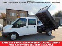 2013 63 FORD TRANSIT TIPPER, CREW CAB, 6 SPEED, FSH, ONE OWNER, EURO5,ALLOY SIDE