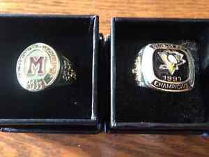 NHL Stanley cup replica rings