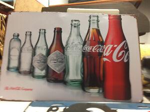 Enseigne en métal coca cola