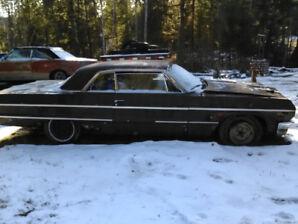 1964  Chevy Impala 2 door hard top fresh 327 body needs ltc