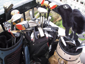 Golf Equipment-3 sets (3 sets of clubs, 3 bags, 3 carts)$150!!!!