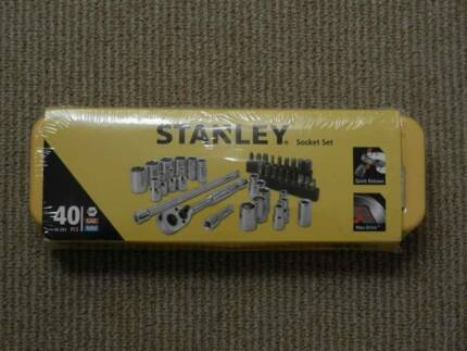 "Stanley 40 Piece 1/4"" Drive Socket Set - Brand New - Still in Box"