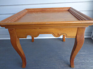 "Solid Pine Accent Table 24.5"" L x 22.5"" W x 20 "" H$35"