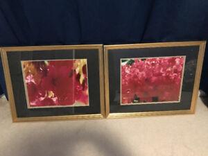 Framed floral prints $40 elegant Renoir Ruth orkin