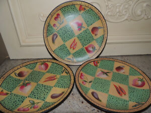 Hand painted  Folk Art Plates - decorative