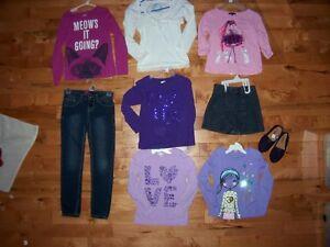 Plus de 115 vêtements fille 7 ans et 8 ans IMPECCABLE!!!!!!!
