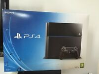 PS4 500gb with box, cables, 1 controller and 6 games