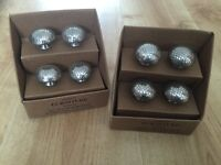 8 X vintage style silver draw pulls for upcycling