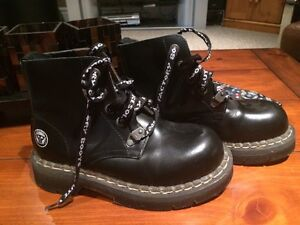Resolute Bay Black Leather Boots for Sale