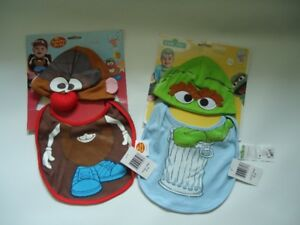2 brand new baby infant hat bib sets novelty