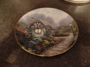 "THOMAS KINKADE PLATE ""CHANDLER'S COTTAGE"" (1991) ~ AS NEW ~ $10"