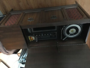 70's stereo cabinet