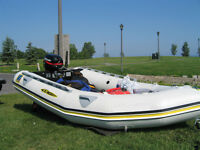 For Sale--Inflatable Boat and Motor Package