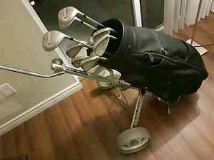 Golf clubs with Bag and Portable Cart London Ontario image 6