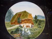 Vintage Made in Germany 3d Cottage Scene Wall Plate