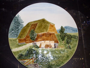Vintage Made in Germany 3d Cottage Scene Wall Plate Edmonton Edmonton Area image 1
