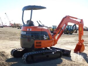KUBOTA U 30 MINI EXCAVATOR RUN NICE
