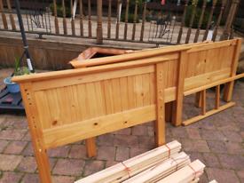 Children's pine bunk beds
