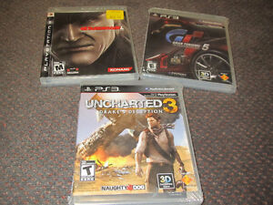 PS3 Game Assortment -MetalGearSolid4, Gran Turismo 5, Uncharted3
