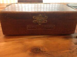Antique coffre National Cash Régister supplies