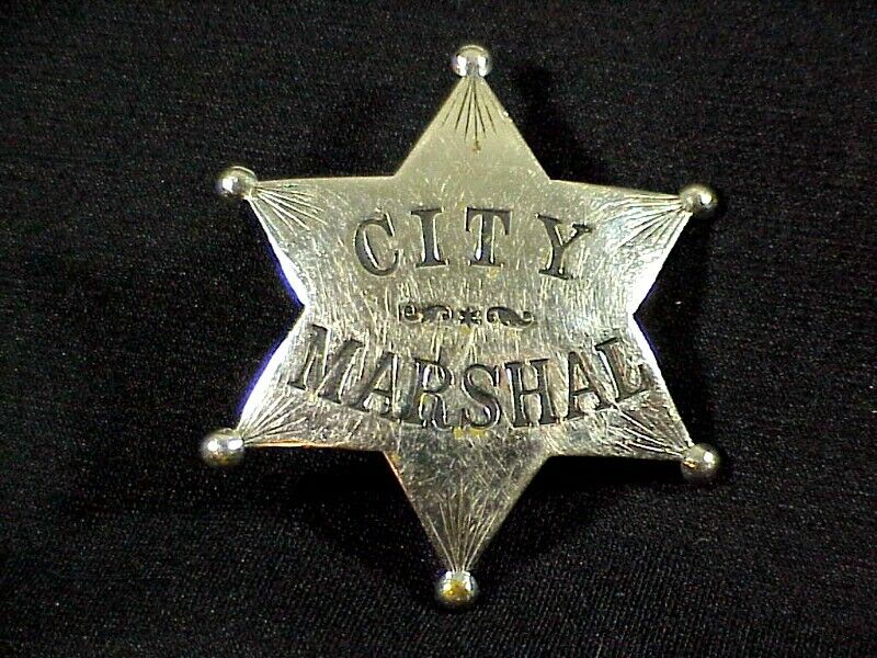Original 6 Point CITY MARSHAL BADGE