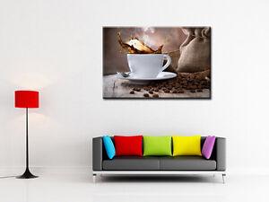 Tableau d coration cuisine moderne toile imprim e design tasse caf r f 4009h - Tableau de cuisine moderne ...