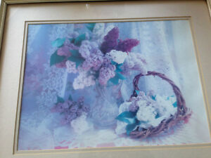 PICTURE OF LILAC FLOWERS 17 1/2 X 21 INCHES