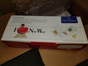 VILLEROY & BOCH NEW WAVE SET/5 ANTIPASTI PLATES NEW IN BOX