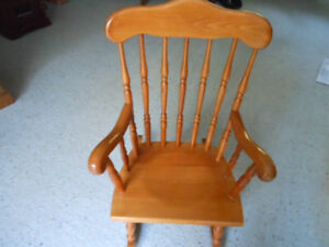 Rocking chair, child, solid maple
