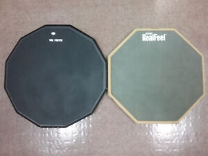 New and used practice pads.